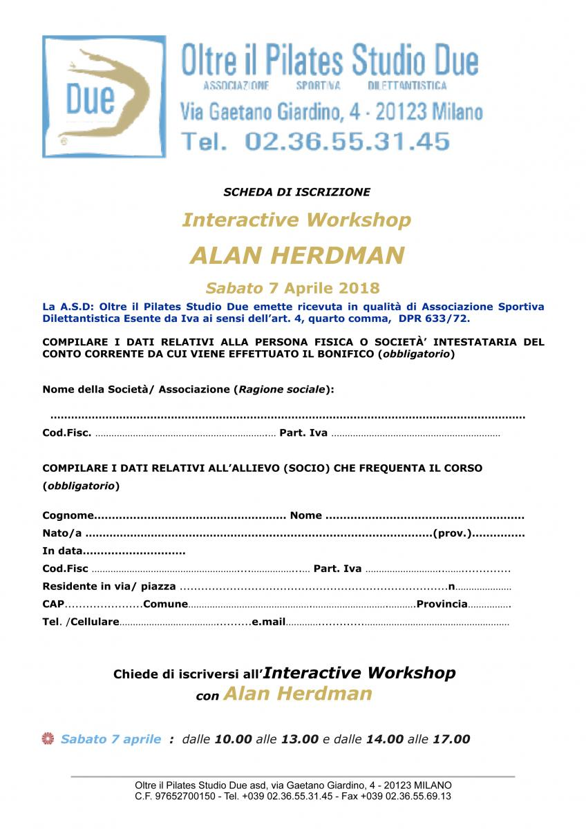 Interactive Workshop Alan Herdman